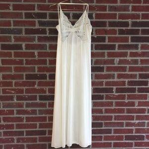 Vintage Vanity Fair Long Sexy Nightgown Medium